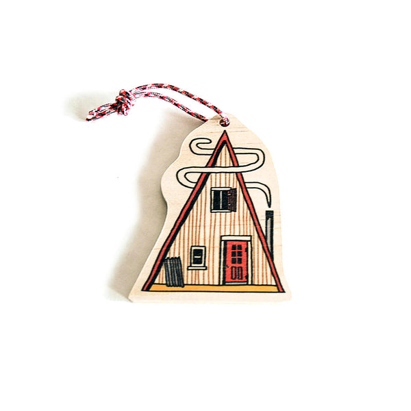 Woods Cabin Ornament (Set of 3)