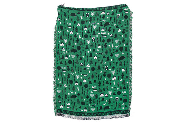 Hunter Green Into The Woods Blanket