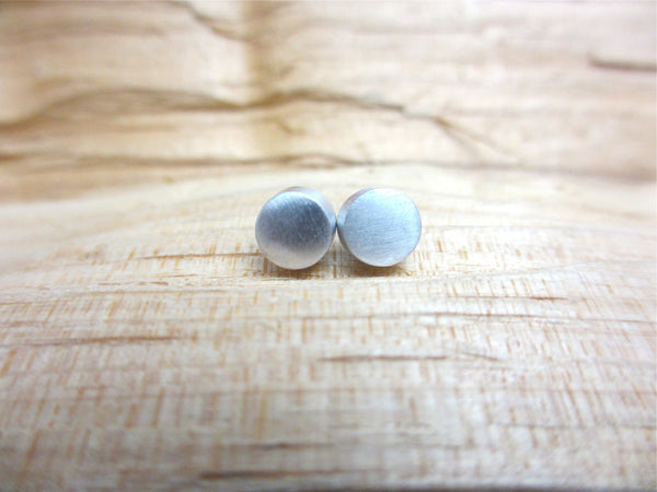 Polished Aluminum Stud Earring ---