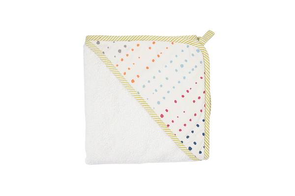 Painted Dots Hooded Towel
