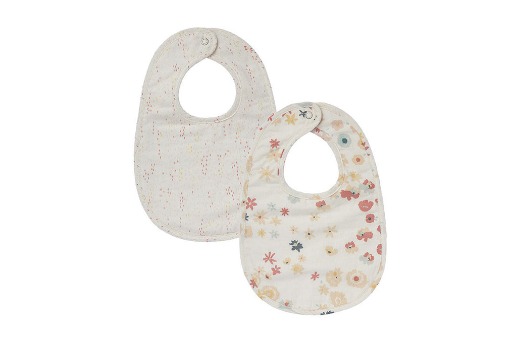 Meadow & Showers Pink Reversible Bibs (Set of 2)