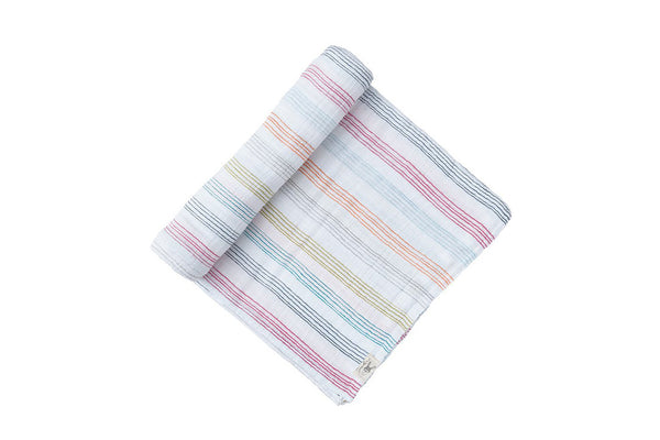 Rainbow Stripe Swaddle