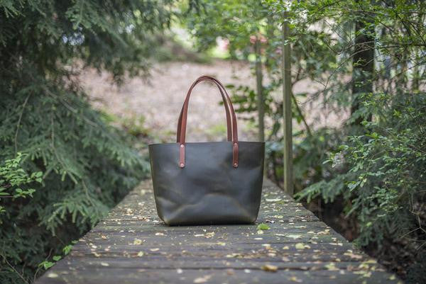 Small Avery Leather Tote (More Options) ---