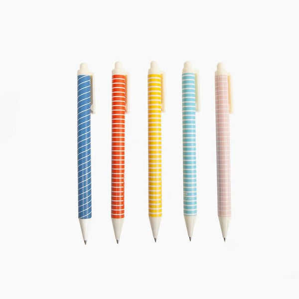 Bright Pattern Gel Roller Pens (Set of 3)