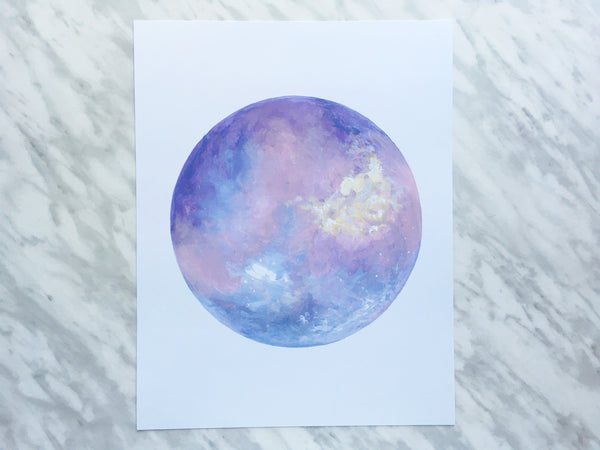 Purple Moon Print ---