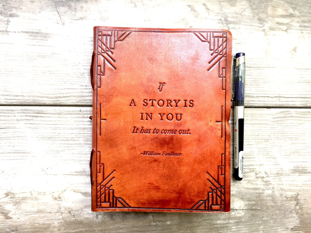 If A Story Leather Journal