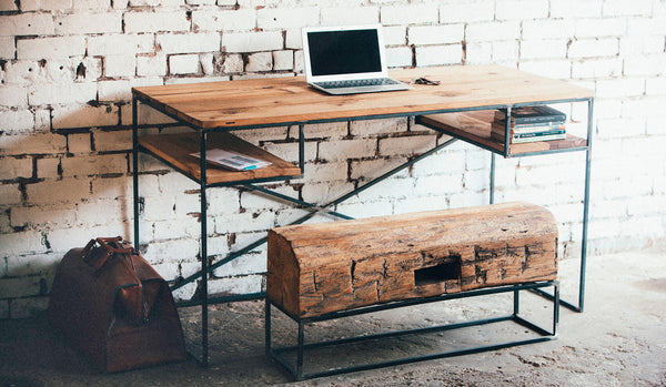 BARN WOOD & STEEL FOX DESK (More Options)