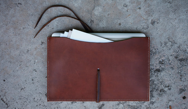 HAND STITCHED LEATHER MACBOOK AIR / IPAD PORTFOLIO (More Options)