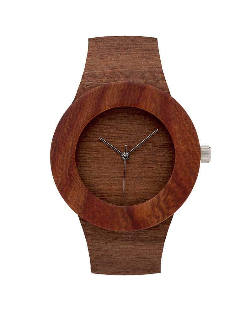 Makore + Red Sanders Wood Watch (More Options)