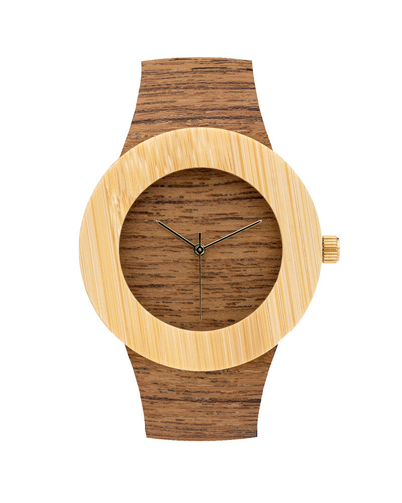 Teak + Bamboo Wood Watch (More Options)