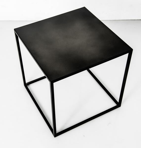 Blackened Steel Cube