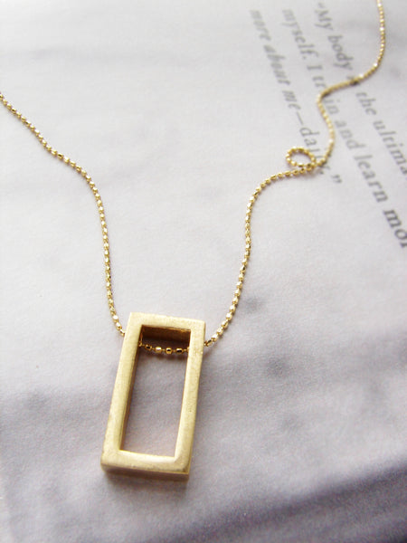 Exclusive Rectangle Necklace