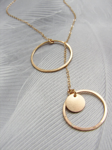 Circle Lariat Necklace (More Options)