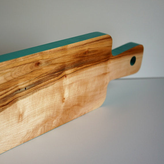 Turquoise Maple Cutting Board
