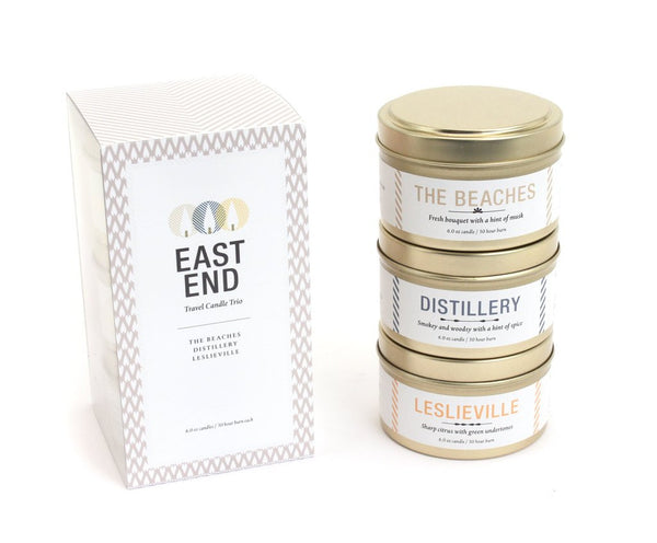 East End Toronto Travel Candle Trio
