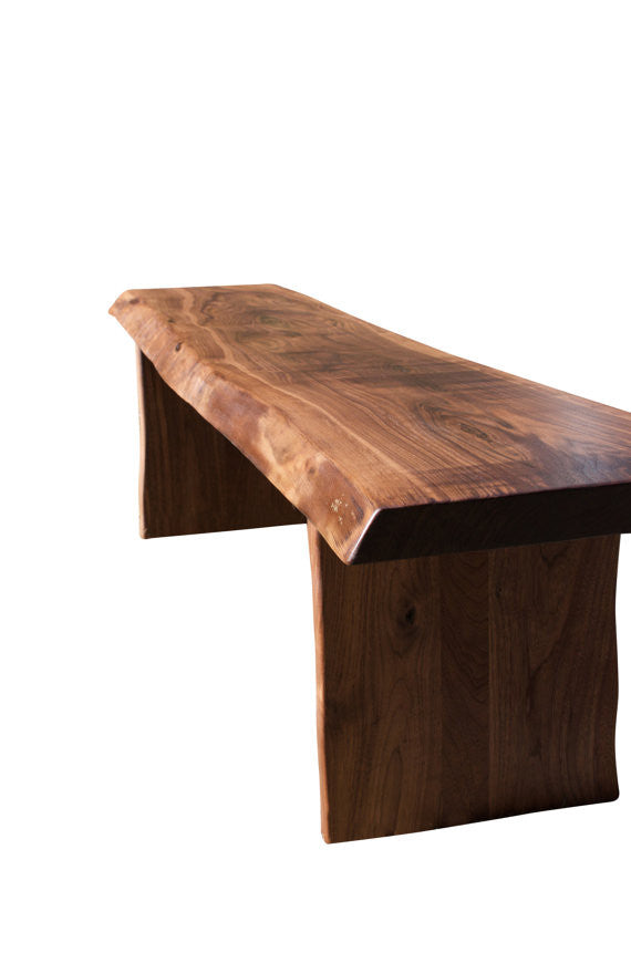 Carver Walnut Slab Live Edge Bench
