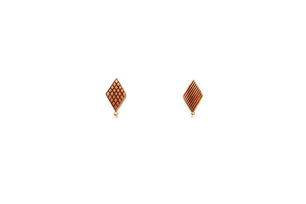 Diamond Shaped Stud Earrings (More Options)