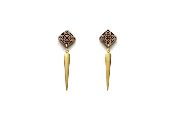 Square + Spike Post Earrings