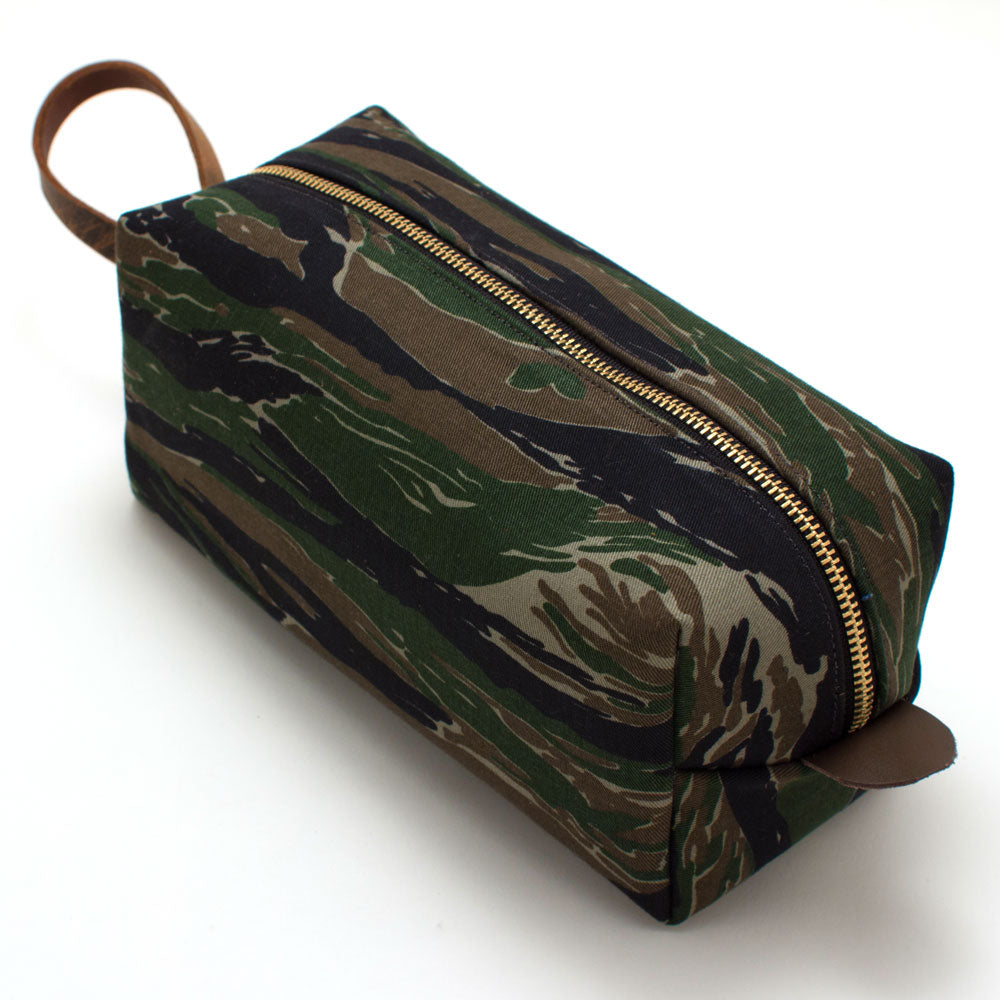 Vintage Army Camouflage Travel Kit