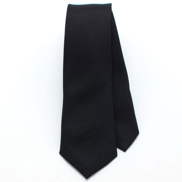 Black Formal Skinny Necktie