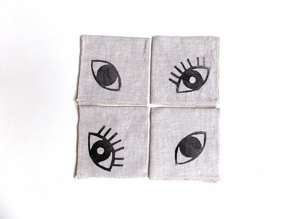 Exclusive Eye See You Cocktail Napkins (Set of 4)