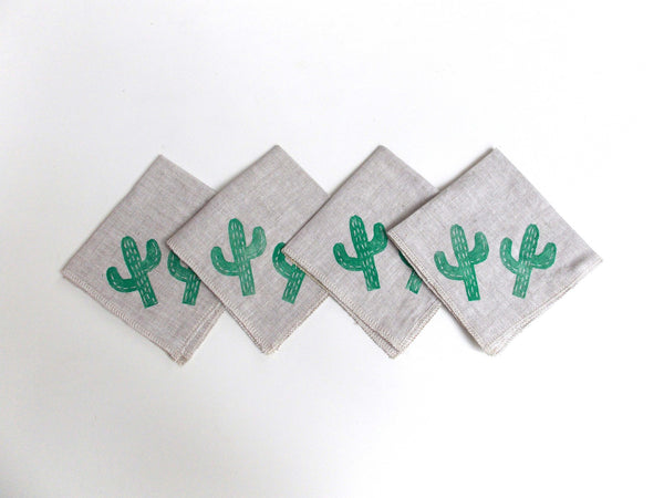 Exclusive Cactus Cocktail Napkins (Set of 4)