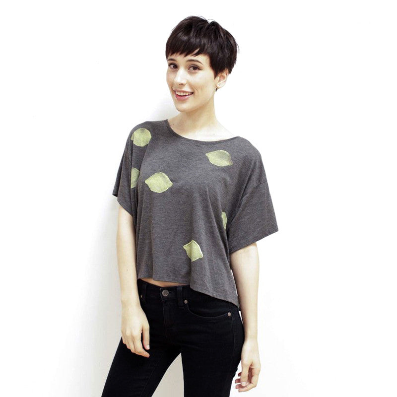 Lemon Boxy Tee Shirt