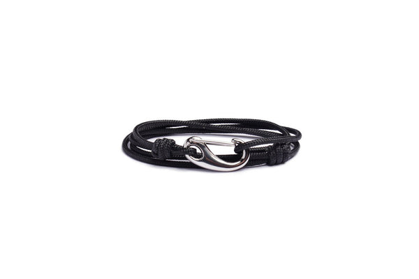 BLACK + SILVER TACTICAL CORD BRACELET