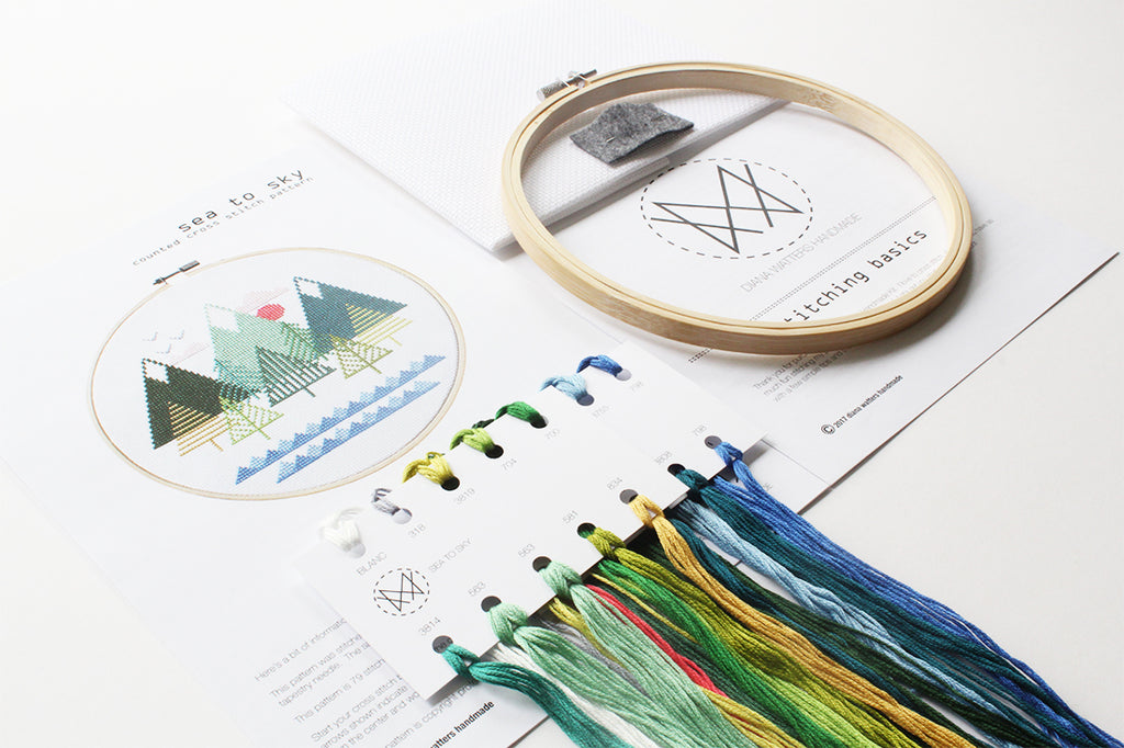 Sea to Sky Cross Stitch DIY Kit