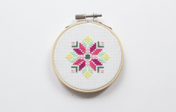 Abstract Flower Cross Stitch DIY Kit