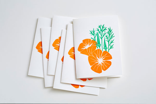 California Poppies Cards (Set of 6)