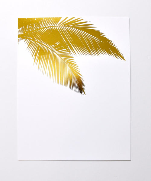 Gold Palms Art Print