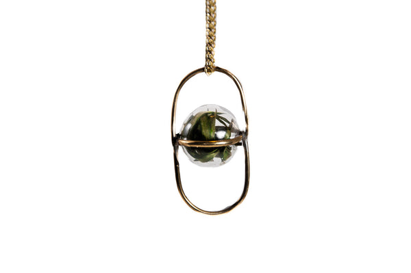 Moss Orbit Necklace