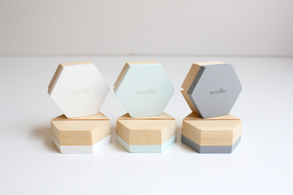 Grey Dove Wooden Cardholders (Set of 6)