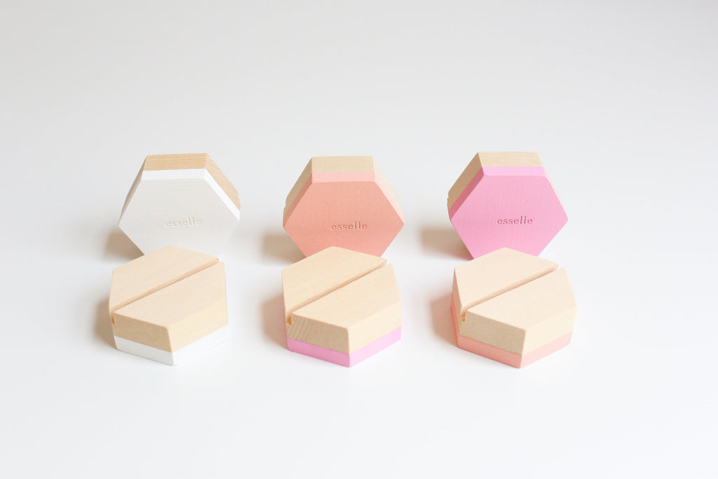 Peony Wooden Cardholders (Set of 6)