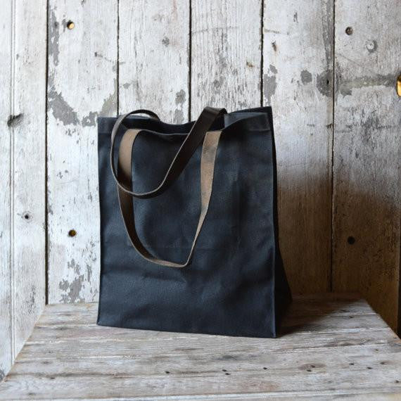The Marlowe Carryall in Coal by Peg and Awl