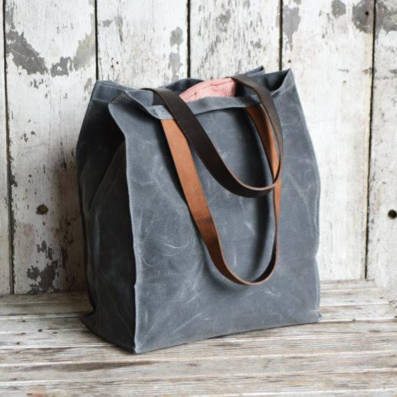 The Marlowe Carryall in Slate by Peg and Awl