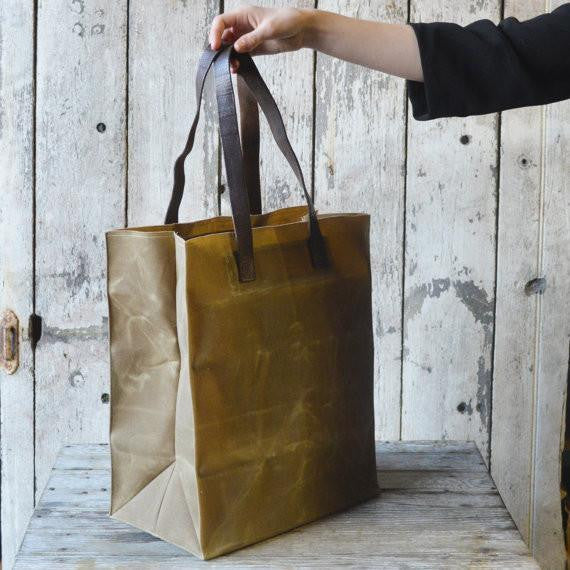 The Marlowe Carryall in Tumbleweed by Peg and Awl