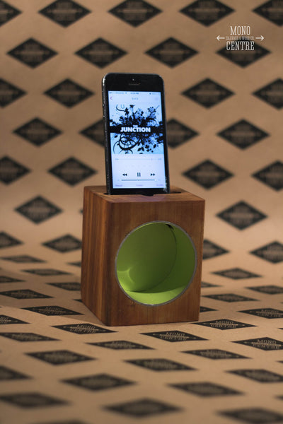 """Travel RAD"" Acoustic iPhone Dock"