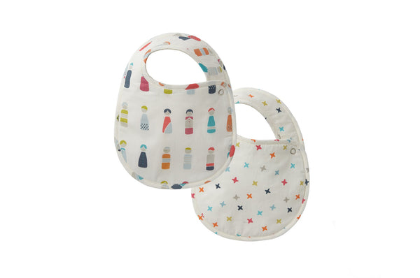 Little Peeps & Rainbow Jacks Bib (Set of 2)