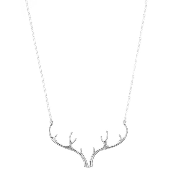 Sterling Silver Antler Necklace
