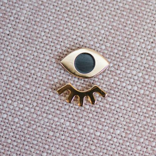 Winky Eyes Enamel Pin Set