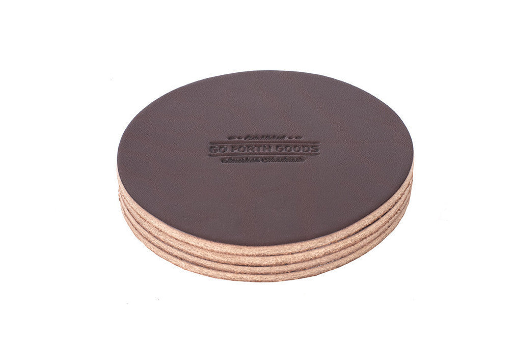 Leather Coaster Set (More Options)