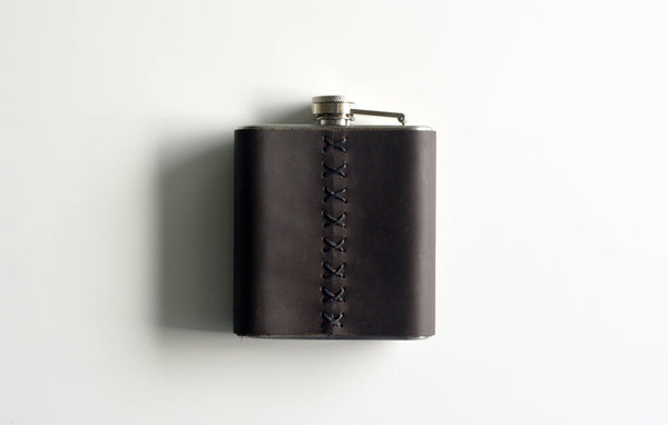 Rustic Leather Flask