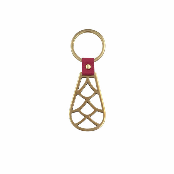Brass Deco Key Ring