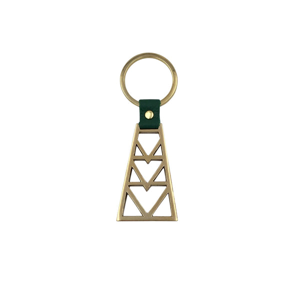 Brass Geo Key Ring