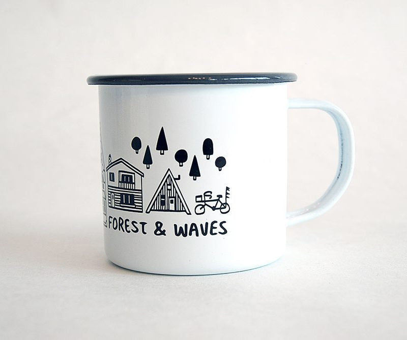 Home Grey Enamel Mug (Set of 2)