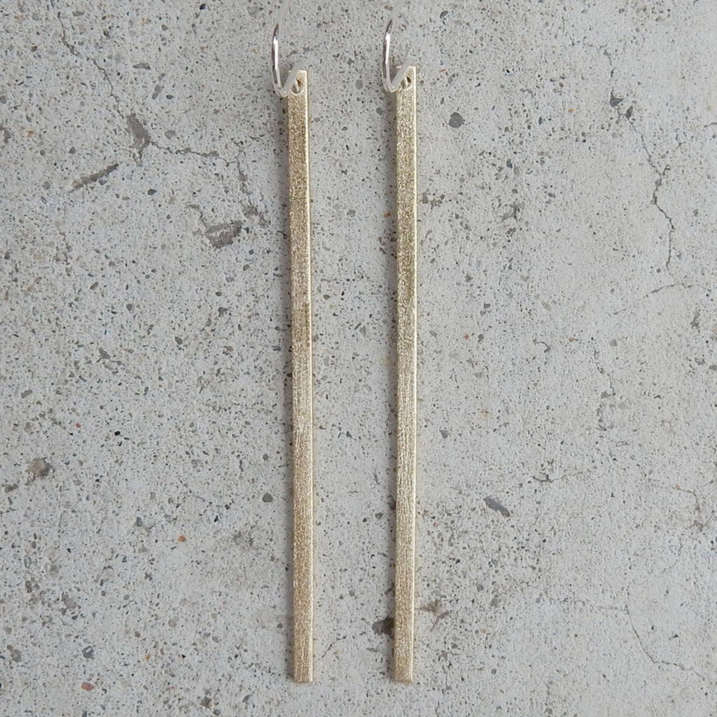 Brass Stick Earrings