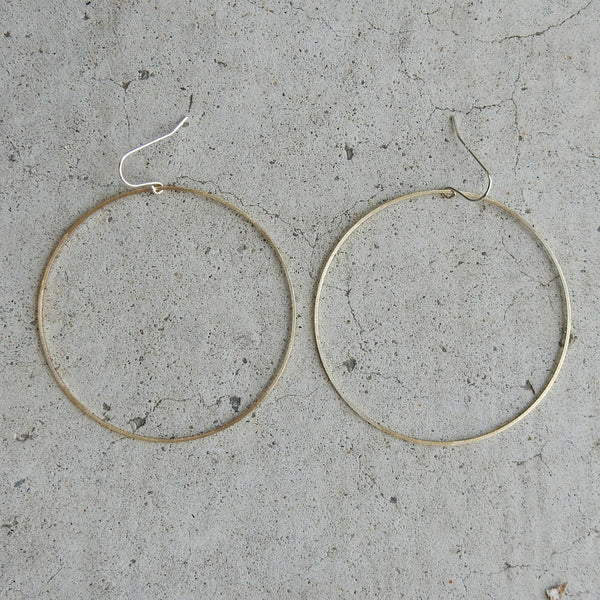 Textured Brass Hoops