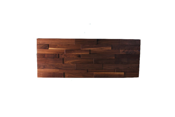 Reclaimed Black Walnut Headboard Wall Art